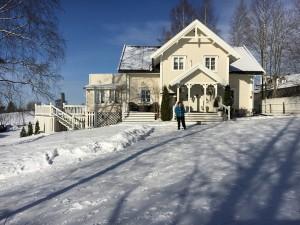 Hovedhuset vinterstid